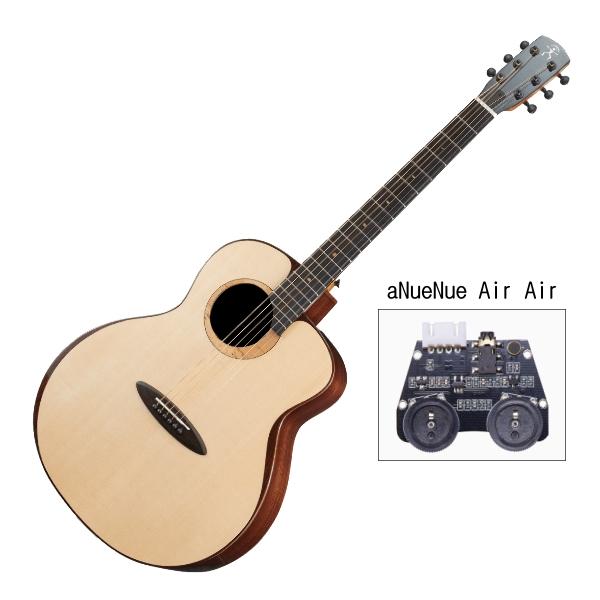 aNueNue L200E 雲杉木面板+玫瑰木側背板 41吋 全單板 可插電 民謠吉他 / 鳥吉他 / 木吉他 附小小收納袋、PICK、貼紙、胸章、琴布、原廠琴盒