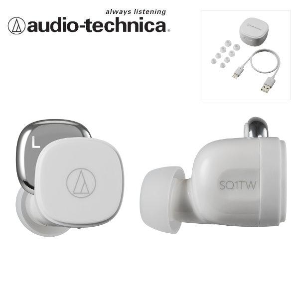 鐵三角 ATH-SQ1TW 真無線耳機 / 藍牙耳機 白 Audio-Technica 台灣公司貨 sq1tw,真無線耳機,藍牙耳機,藍芽耳機,鐵三角耳機,鐵三角 無線,athsq1,ath-sq1tw,鐵三角 無線耳機