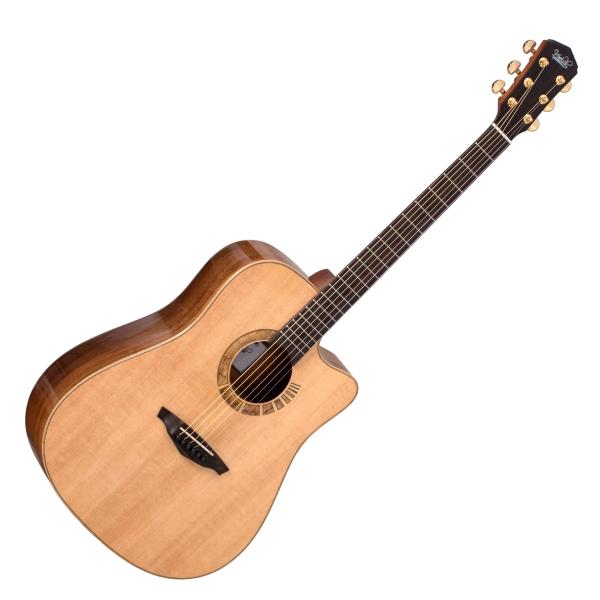 Veelah 吉他 V7-SAS-DC 全單板 民謠吉他 切角 附贈Veelah原廠硬盒 D桶身 台灣公司貨【木吉他】