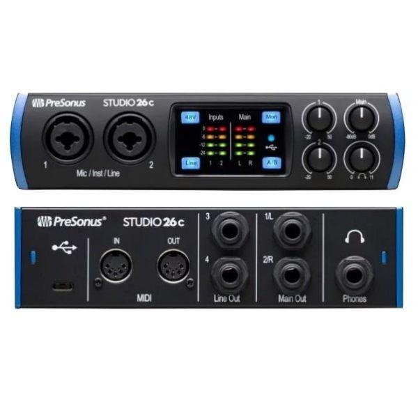 Presonus Studio 26c 2進4出 錄音介面/錄音界面 USB-C 最高取樣頻率192 kHz【原廠公司貨 一年保固】