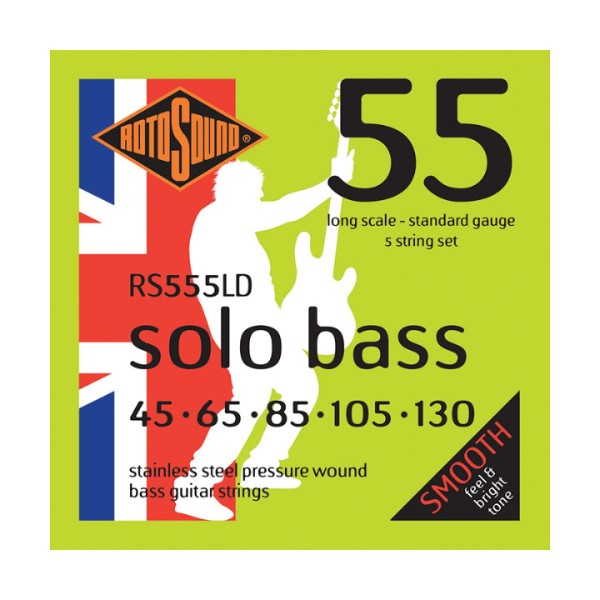 ROTOSOUND RS555LD 5弦電貝斯弦 (45-130)【英國製/BASS弦/RS-555-LD】