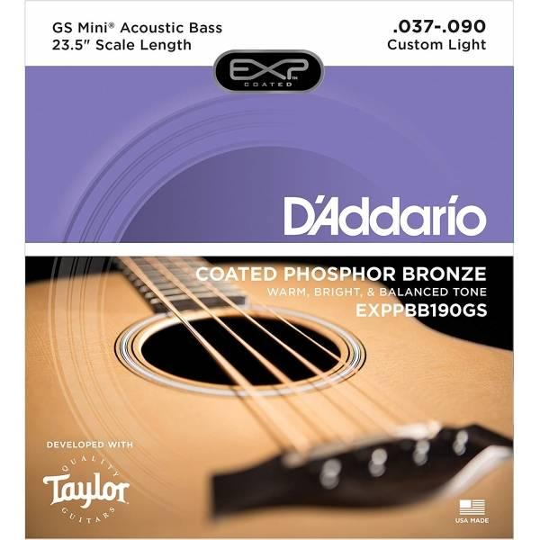 Daddario EXPPBB190GS 磷青銅木貝斯弦/四弦貝斯弦/旅行木貝斯專用 (.037-.090) Taylor GS Mini Bass 原廠指定用弦GSMini 【89904】