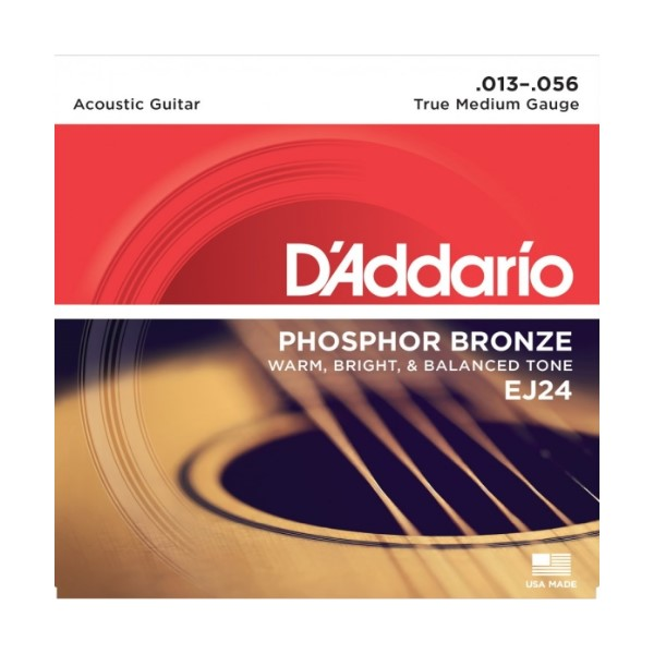 D'Addario EJ24 (13-56) 磷青銅 民謠吉他弦【DAddario/吉他弦專賣店/進口弦/EJ-24】
