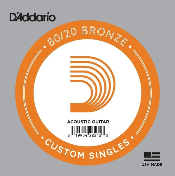 Daddario BW023 單弦 黃銅民謠吉他弦 (.023) 單一弦【木吉他弦】