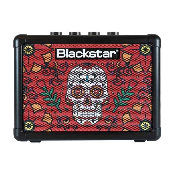 Blackstar Fly3 Sugar Skull2 紅骷髏 單顆吉他音箱(可當電腦喇叭/電池可攜帶)內建破音與Delay效果器 台灣公司貨
