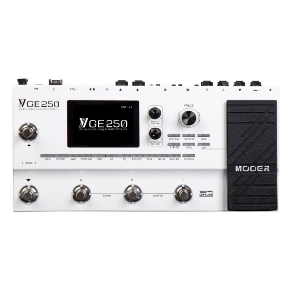 Mooer GE250 音箱模擬 綜合效果器 內建表情踏板 前/後置70秒立體聲樂句循環【GE-250】