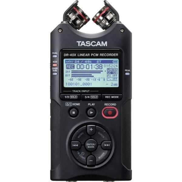 Tascam DR-40x 新版 四軌 / 支援幻象電源 攜帶型數位錄音機 XY立體聲 dr40x 錄音筆 / 可當USB麥克風/錄音卡用 公司貨 TASCAM,tascam,dr-40,dr40,dr-40x,DR40X,錄音筆,錄音機,usb麥克風