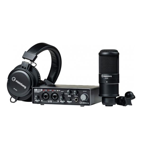 【預購大約要等6個月】Steinberg UR22C Recording Pack 錄音套裝組 USB3.0介面 32-bit/ 192kHz取樣率 內附ST-M01 電容式麥克風、ST-H01 監聽耳機【二進二出】YAMAHA