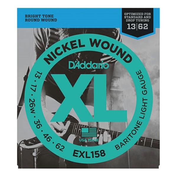 美國 DAddario EXL158 (13-62) Baritone 電吉他弦【EXL-158/吉他弦專賣店/DAddario】
