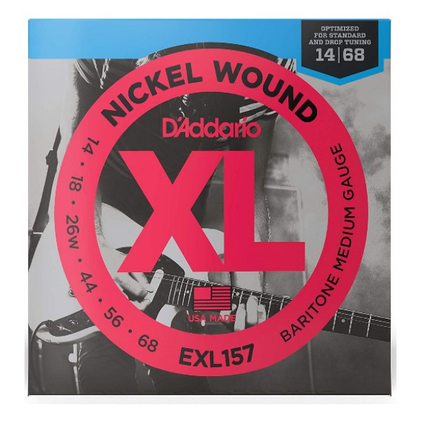 美國 DAddario EXL157 (14-68) Baritone 電吉他弦【EXL-157/吉他弦專賣店/DAddario】
