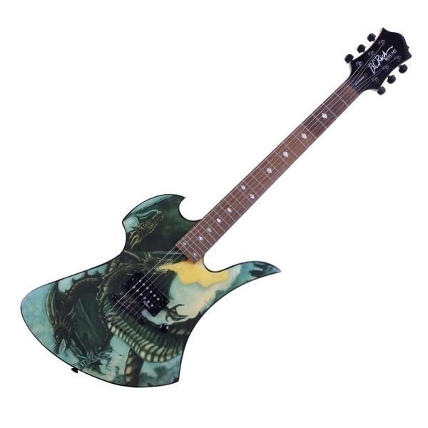 B.C Rich Fire Breather 噴火龍電吉他 附琴袋、背帶、Pick×2、琴布、導線 B.C Rich Fire Breather 噴火龍電吉他 附琴袋、背帶、Pick×2、琴布、導線
