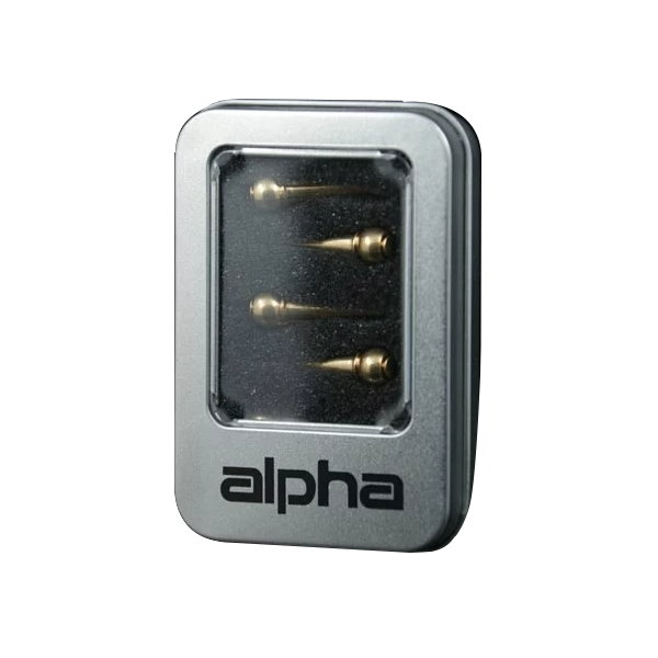 民謠吉他弦釘 alpha P-212 木吉他特級黃銅弦栓 音色強化升級 1組6個 金屬盒裝 民謠吉他弦釘【P212】