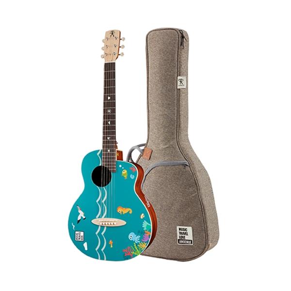 aNueNue MTK Morelos Blue 莫雷洛斯藍 36吋 旅行吉他/民謠吉他/木吉他 附原廠亞麻加厚琴袋/專屬設計貼紙組合包 aNueNue MTK Morelos Blue 莫雷洛斯藍 36吋 旅行吉他/民謠吉他/木吉他