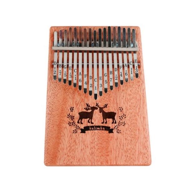 Kalimba KB-17 桃花心單板 卡林巴琴/拇指琴/手指琴 17音 附收納束口袋、調音鎚、音階表【KB17】