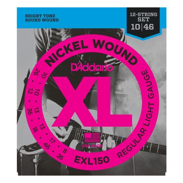 美國 DAddario EXL150 (10-46) 12弦專用 電吉他弦【EXL-150/吉他弦專賣店/DAddario】
