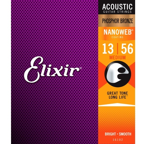 Elixir吉他弦 Nanoweb 16102 磷青銅 木吉他弦 / 民謠弦 elixir弦 13-56 台灣公司貨 Elixir吉他弦,16102,elixir弦