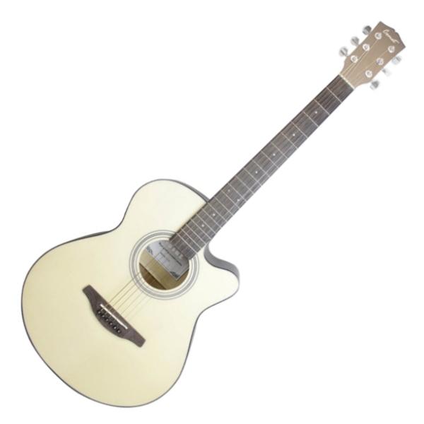 Comet C100 40吋 切角民謠吉他 原木色 附贈Pickx2、移調夾、背帶、吉他袋【木吉他/自彈自唱必備/C-100】