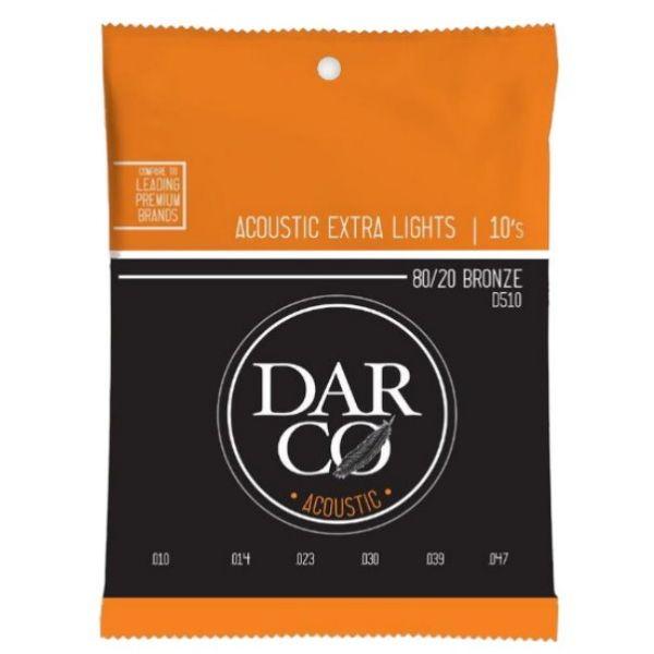 Martin Darco D510 Extra Lights 黃銅弦 10-47 木吉他弦 / 民謠吉他弦【80/20 Bronze】