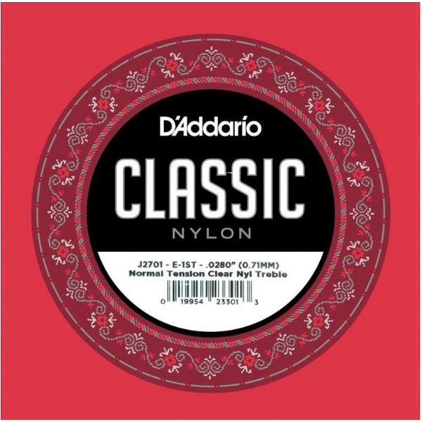 Daddario J2701 單弦第一弦 標準張力古典吉他弦 單一弦【第1弦/E弦】