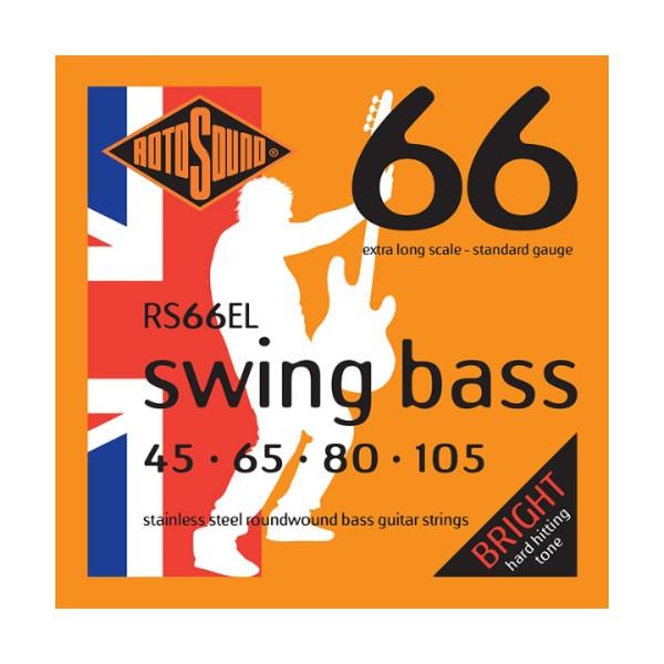 ROTOSOUND RS66EL 電貝斯弦 Extra Long (45-105)【英國製/BASS弦/RS-66-EL】