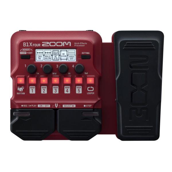 ZOOM B1X FOUR 電貝斯專用綜合效果器 表情踏板款 原廠公司貨 一年保固【Guitar Effects Pedal】
