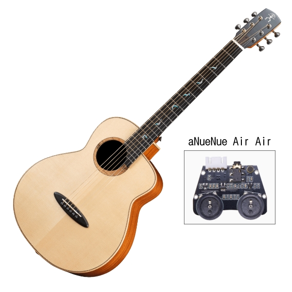 aNueNue MB100E 雲杉木面板+桃花心木側背板 36吋 全單板 可插電 民謠吉他 / 旅行吉他 BABY吉他/鳥吉他 附小小收納袋、PICK、貼紙、胸章、琴布、原廠琴盒