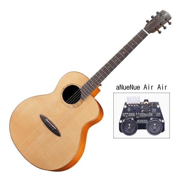 aNueNue L100E 雲杉木面板+桃花心木側背板 41吋 全單板 可插電 民謠吉他 / 鳥吉他 / 木吉他 附小小收納袋、PICK、貼紙、胸章、琴布、原廠琴袋