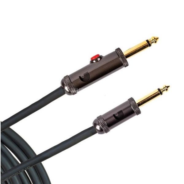 Daddario PW-AGL-30 美製吉他導線 30呎(雙直頭) 900公分 內建K開關【電木吉他/電吉他/電貝斯/所有樂器皆適用】