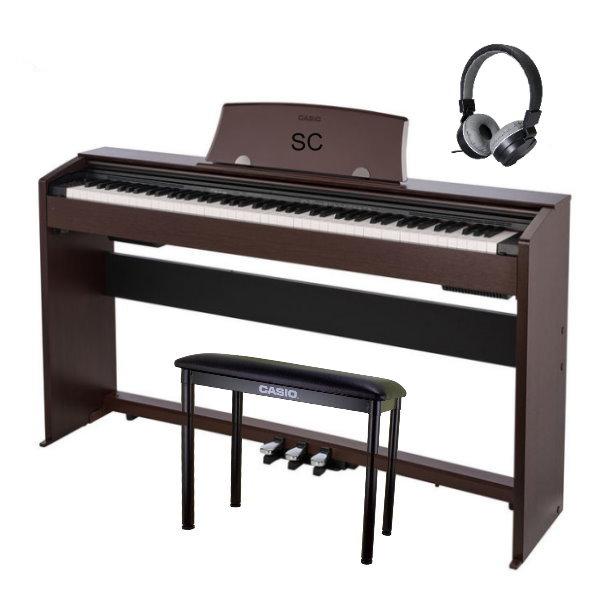Casio PX-770 滑蓋式 電鋼琴 88鍵 咖啡色 / 含原廠腳架 / 三音踏板 / 琴椅 台灣卡西歐公司貨 贈送耳機 PX770 PX-770,px770,casio px770,casio px-770