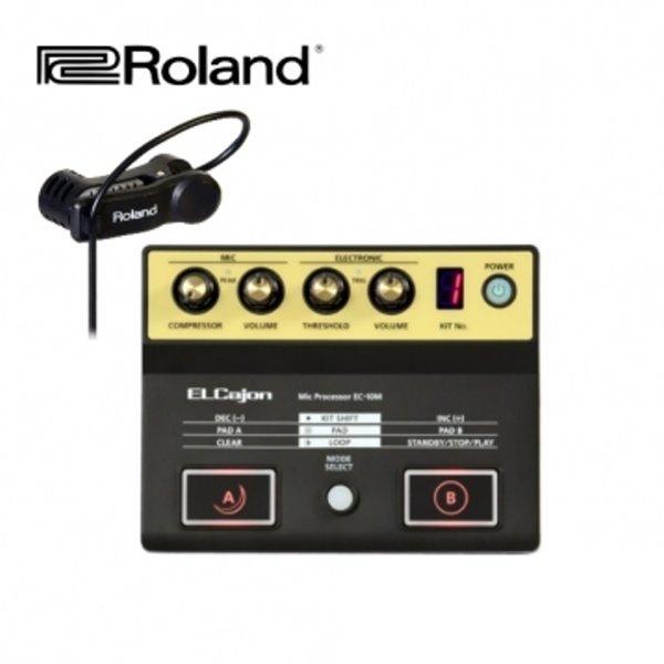 Roland 木箱鼓 效果器 EC10M 木箱鼓 效果器 /  音源機 + 拾音器 (附贈原廠 木箱鼓 專用麥克風 / 夾式) EC-10M 樂蘭原廠公司貨