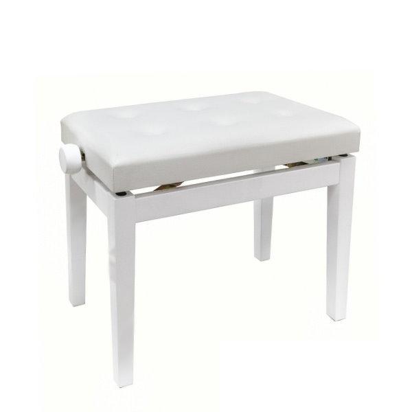 PIANO BENCH 白色鋼琴椅 PJ009 可調整高度鋼琴椅/電鋼琴椅/電子琴椅/piano琴椅/Keyboard椅 鋼琴椅