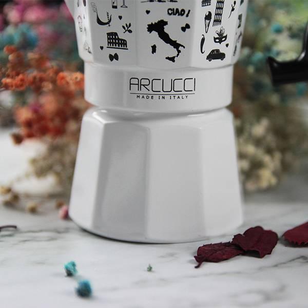 Arucci Alice義式彩繪壺 3人份 Arcucci,咖啡壺,咖啡,烘焙,老爸咖啡,咖啡機