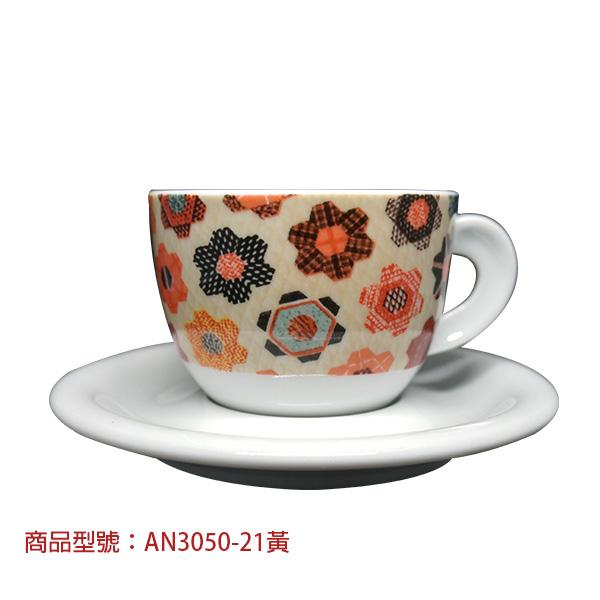 巧彩卡布杯組(2杯2盤) 老爸咖啡,杯子,瓷,咖啡,精品,濃縮,義大利,義式,咖啡豆,老爸咖啡 商城