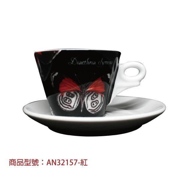 奇幻蝴蝶卡布杯組(2杯2盤) 老爸咖啡,杯子,瓷,咖啡,精品,濃縮,義大利,義式,咖啡豆,老爸咖啡 商城