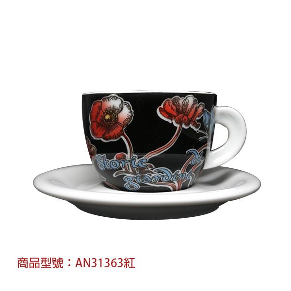 【6月限定價】秘密花園卡布杯組(2杯2盤) 老爸咖啡,杯子,瓷,咖啡,精品,濃縮,義大利,義式,咖啡豆,老爸咖啡 商城
