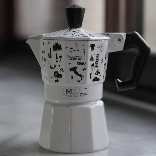 Arucci Alice義式彩繪壺 1人份 Arcucci,咖啡壺,咖啡,烘焙,老爸咖啡,咖啡機