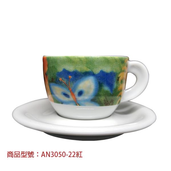 向日葵卡布杯組(2杯2盤) 老爸咖啡,杯子,瓷,咖啡,精品,濃縮,義大利,義式,咖啡豆,老爸咖啡 商城