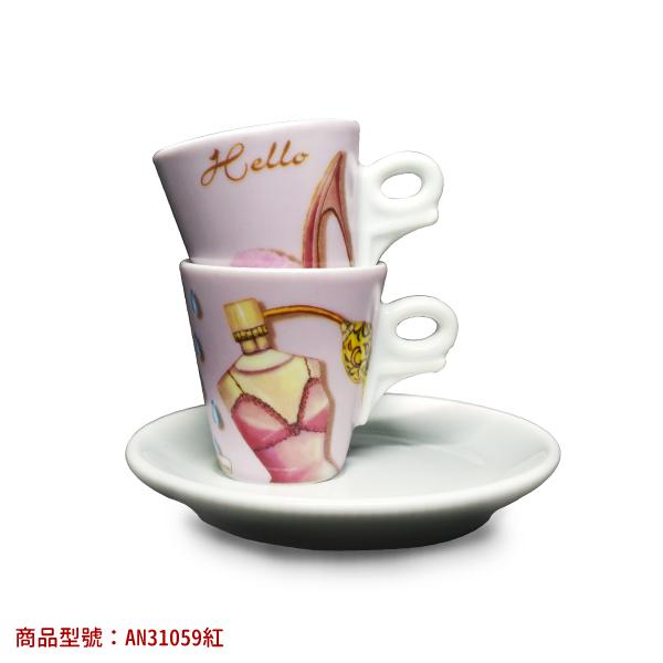 【6月限定價】女人香濃縮杯組(2杯2盤) 老爸咖啡,杯子,瓷,咖啡,精品,濃縮,義大利,義式,咖啡豆,老爸咖啡 商城