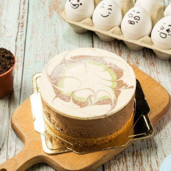 巧克力抹茶重乳酪8吋 蛋是鳳梨酥,伴手禮,雞蛋,創意