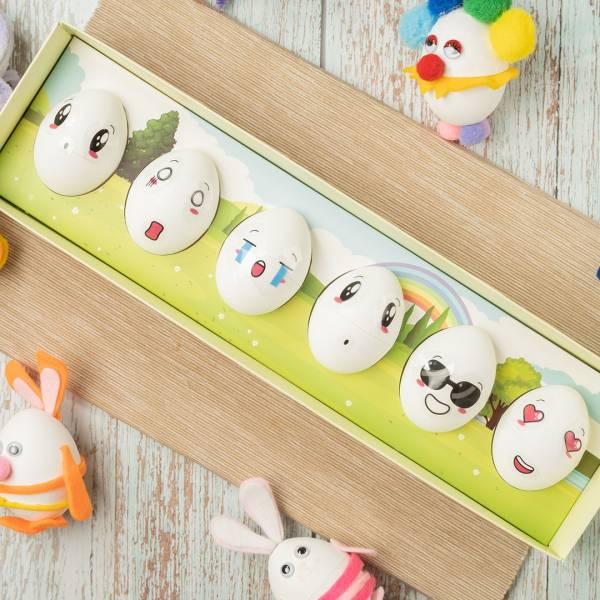 表情貼紙(6個表情1張) 蛋是鳳梨酥,伴手禮,雞蛋,創意
