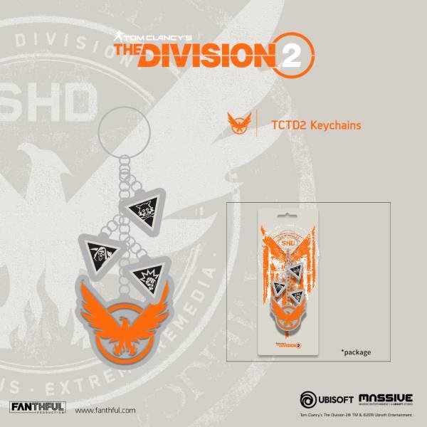 新品現貨 湯姆克蘭西:全境封鎖2 鑰匙圈 DIVISION2 Shield Keychain