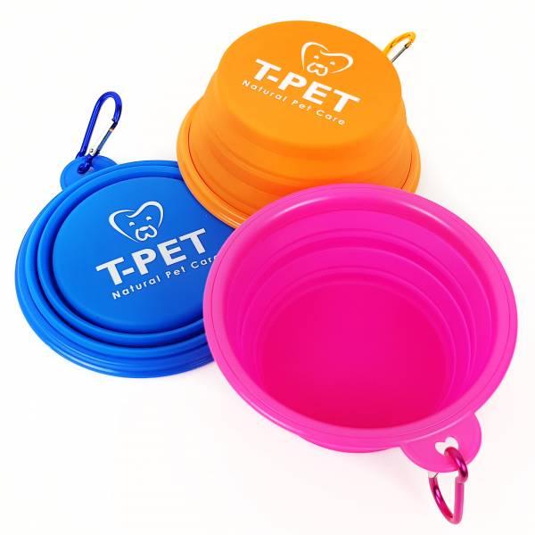 T-PET 迪貝多 郊遊寵物碗 狗碗,矽膠碗,摺疊碗,環保碗,郊遊,外出,飛盤,備用,寵物配備,喝水,水碗,貓碗,矽膠