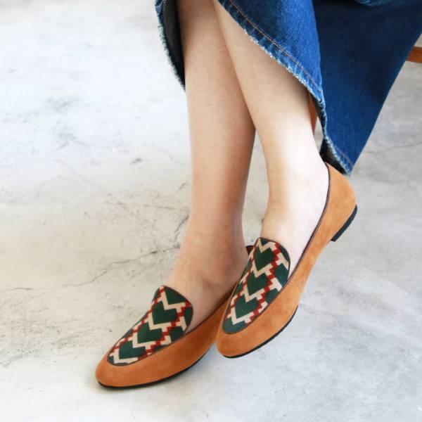 【訂製】修飾腳型滾邊歐貝拉-駝