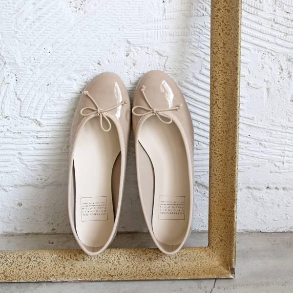 【手工訂製】【人氣色-米】FIKA日本製晴雨兩穿圓頭芭蕾舞鞋