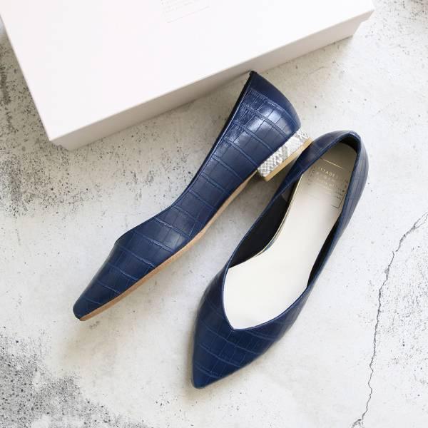 【手工訂製】【自行配色】ETOILE日本製尖頭低跟鞋