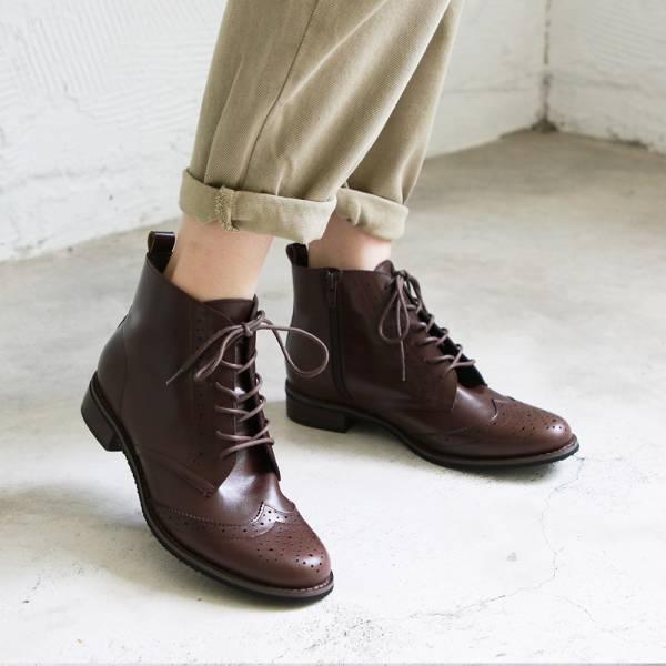 【訂製】寬腳版OK!真皮牛津短靴-棕
