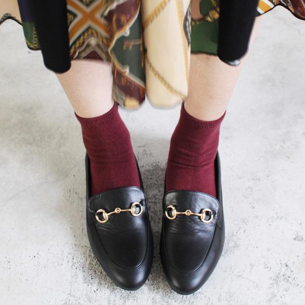 【訂製】真皮鍊條樂福鞋-黑
