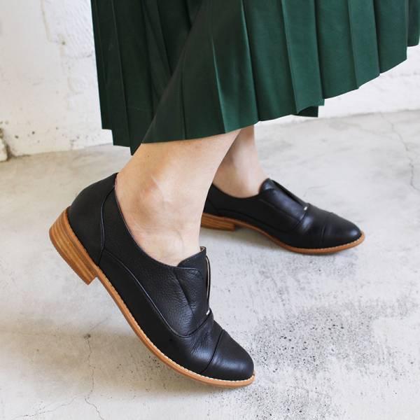 【訂製】簡約真皮復古紳士鞋-黑