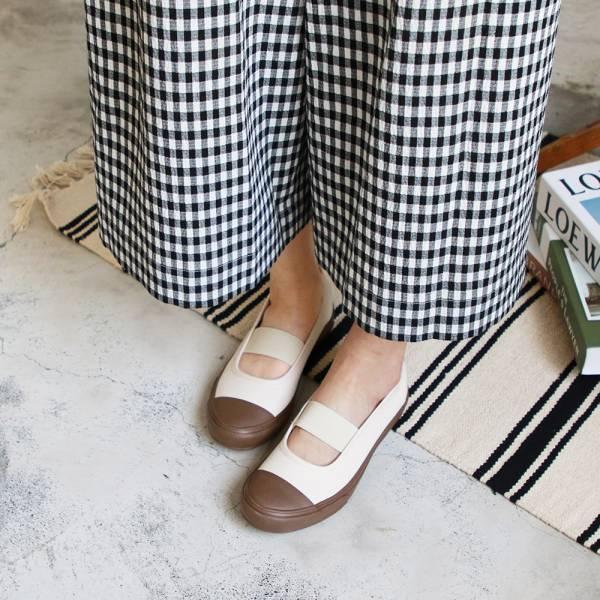 現貨【世界系列】Pennylane半包式帆布休閒鞋-象牙白