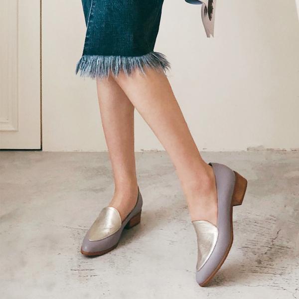 【訂製】真皮配色復古爵士鞋-莫蘭迪